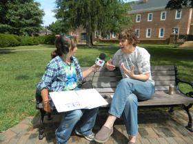 Radio Camper Emma Kilpatrick talks with Guilford College Professor of Music Kami Rowan