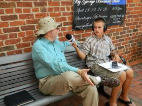 Radio Camper Ian Olson speaks with the Center for New North Carolinians Director Raleigh Bailey
