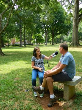 Radio Camper Josie Patch speaks with Dave Petree, Guilford College's Director of Environmental Sustainability