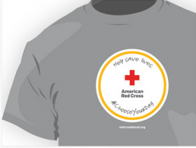 The American Red Cross is offering T-shirts to blood and platelet donors through July 7.