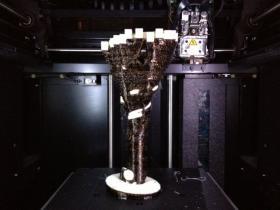 work in progress (still in the 3-D printer) - 3-D visualization of a pop song written by local artist, Scott Betz.