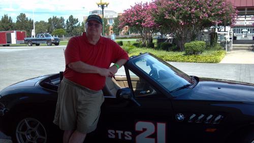 John Byrd with his BMW Z3
