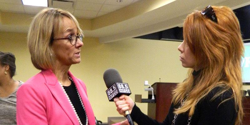 Beverly Emory tells WFDD's Keri Brown she will visit schools every Friday as part of her new role as superintendent for Winston-Salem Forsyth County Schools.