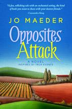 The cover of Jo's newest book Opposites Attack.