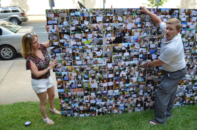 More than 1,500 pictures of Duke Energy customers opposed to a third rate hike.