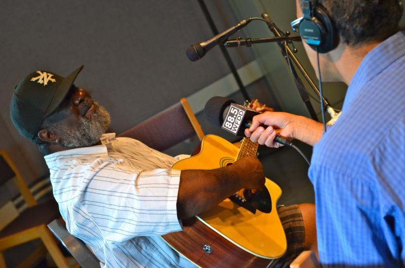 Big Ron Hunter in Studio A at WFDD.