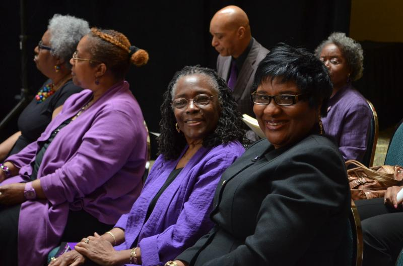 NCBRC Artistic Director Mabel Robinson and President NCBRC Theatre Guild Renita Brewington