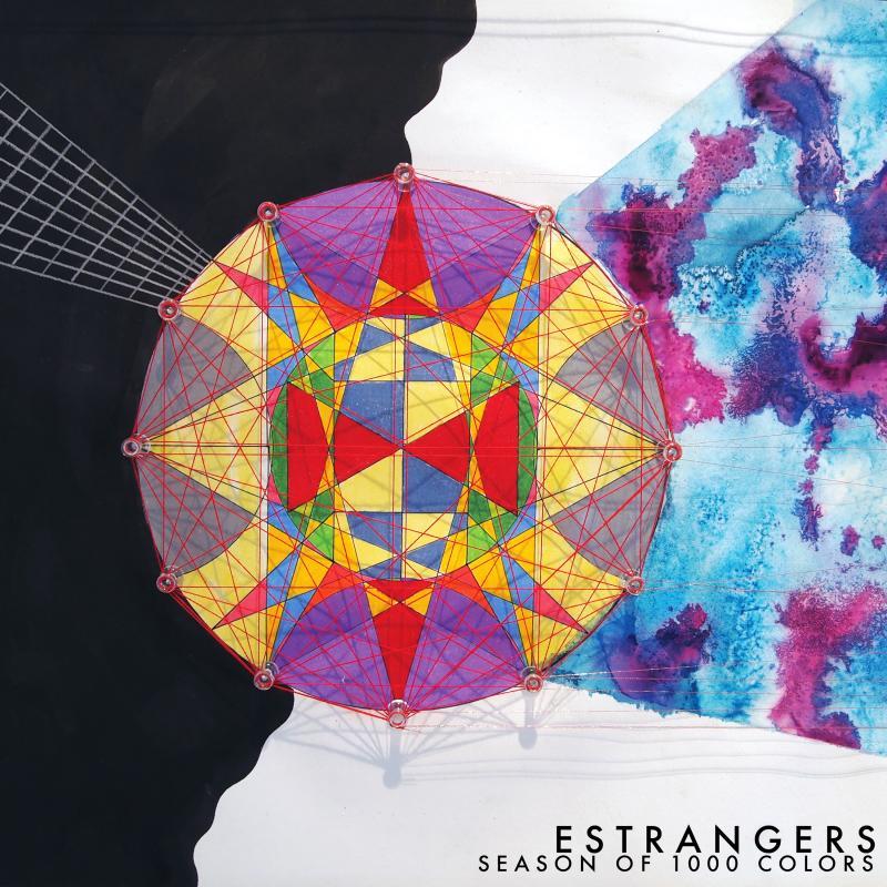The cover of Estrangers' new album, Season of 1000 Colors.