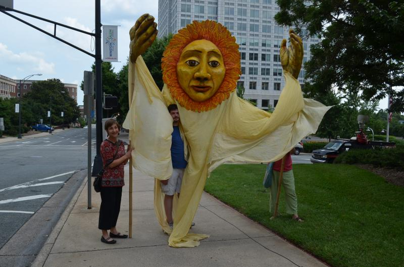 Protesters want Duke Energy to invest more in developing solar and wind energy.