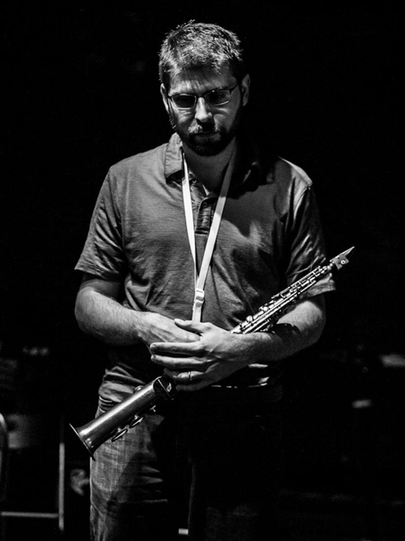 Composer, soprano saxophonist, and educator Andrew Raffo Dewar.