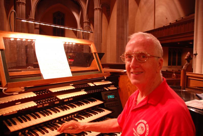 Organist Ray Ebert.