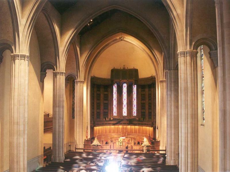 Inside Centenary United Methodist Church, home of the 1931 Austin organ.
