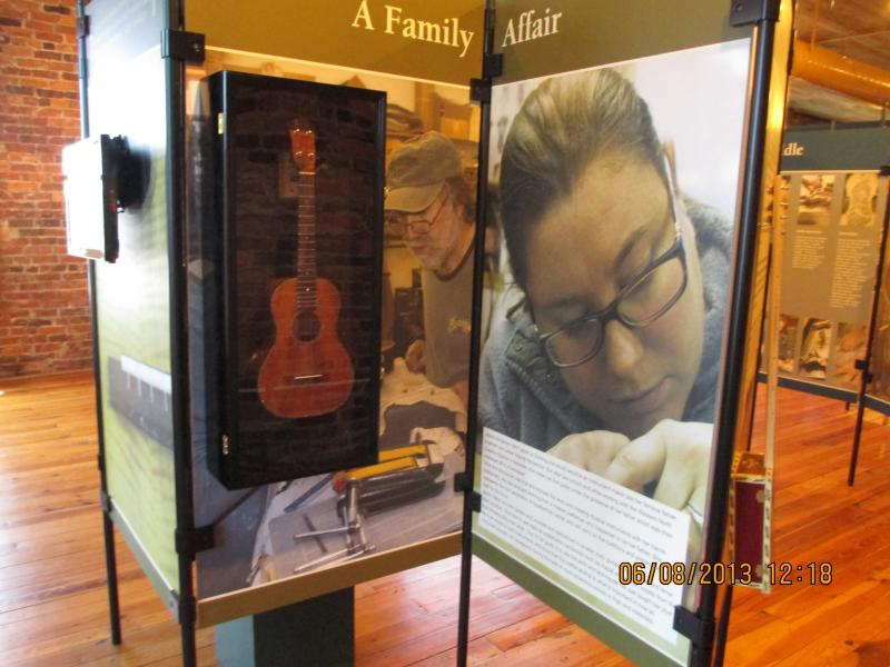 A photo from the Mt. Airy Museum of Regional History's exhibit - The Luthier's Craft.