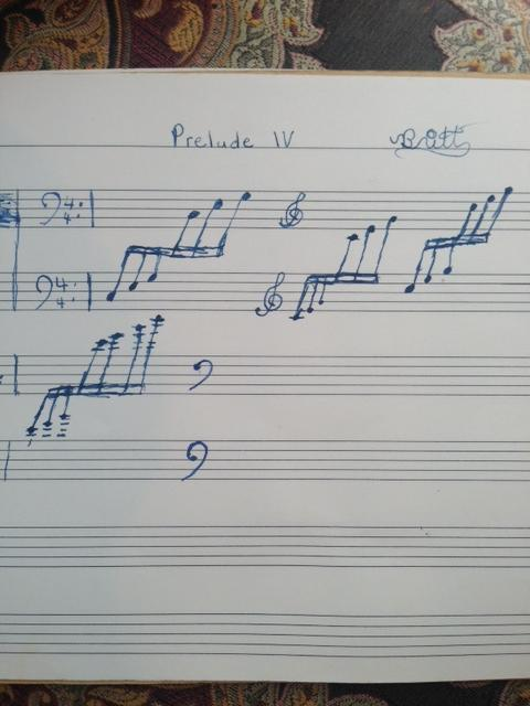 An early composition by Joy at age 10.
