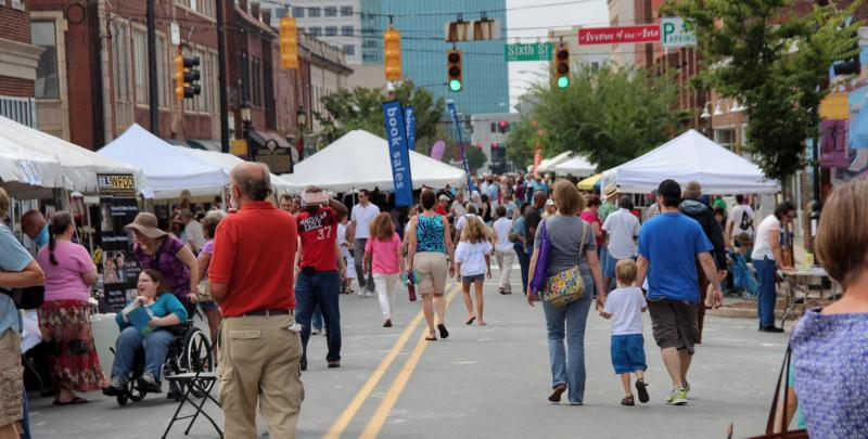 BOOKMARKS Book Festival in downtown Winston-Salem.