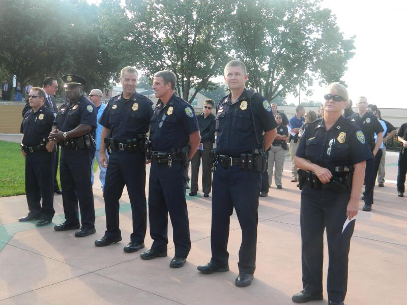 Law enforcement from departments in Winston-Salem & Forsyth County attended the 9/11 ceremony.