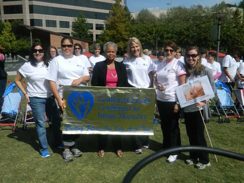 NC State Senator Gladys Robinson (center) aslo attended the event at Center City Park in Greensboro.