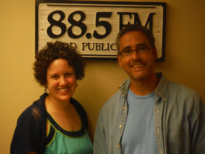 BOOKMARK's Executive Director Ginger Hendricks and David Ford.