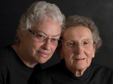 Lennie Gerber and Pearl Berlin.