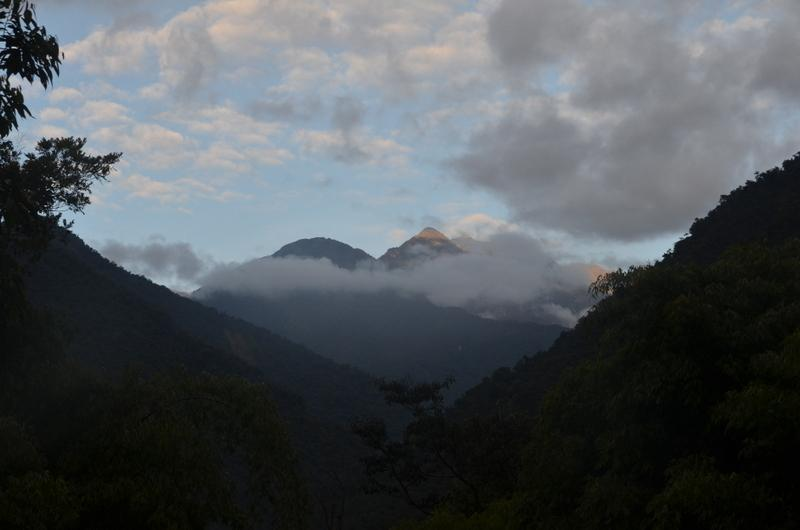 Early morning view of the Kosnipata Valley of Manu National Park from a wilderness area called San Pedro.