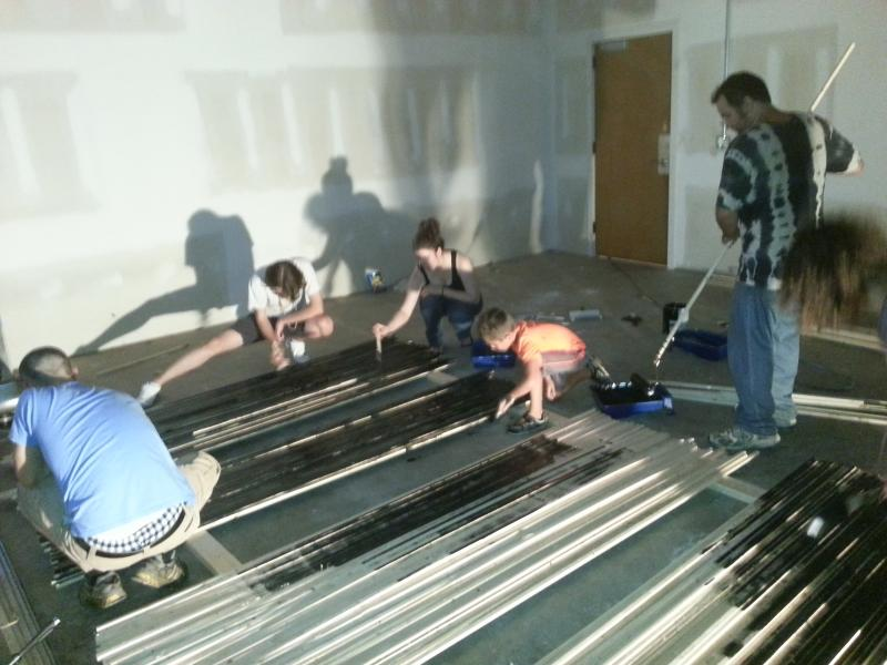 Construction on The Breathing Room.