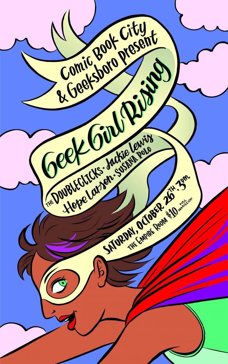 Poster for the Geek Girl Rising panel.