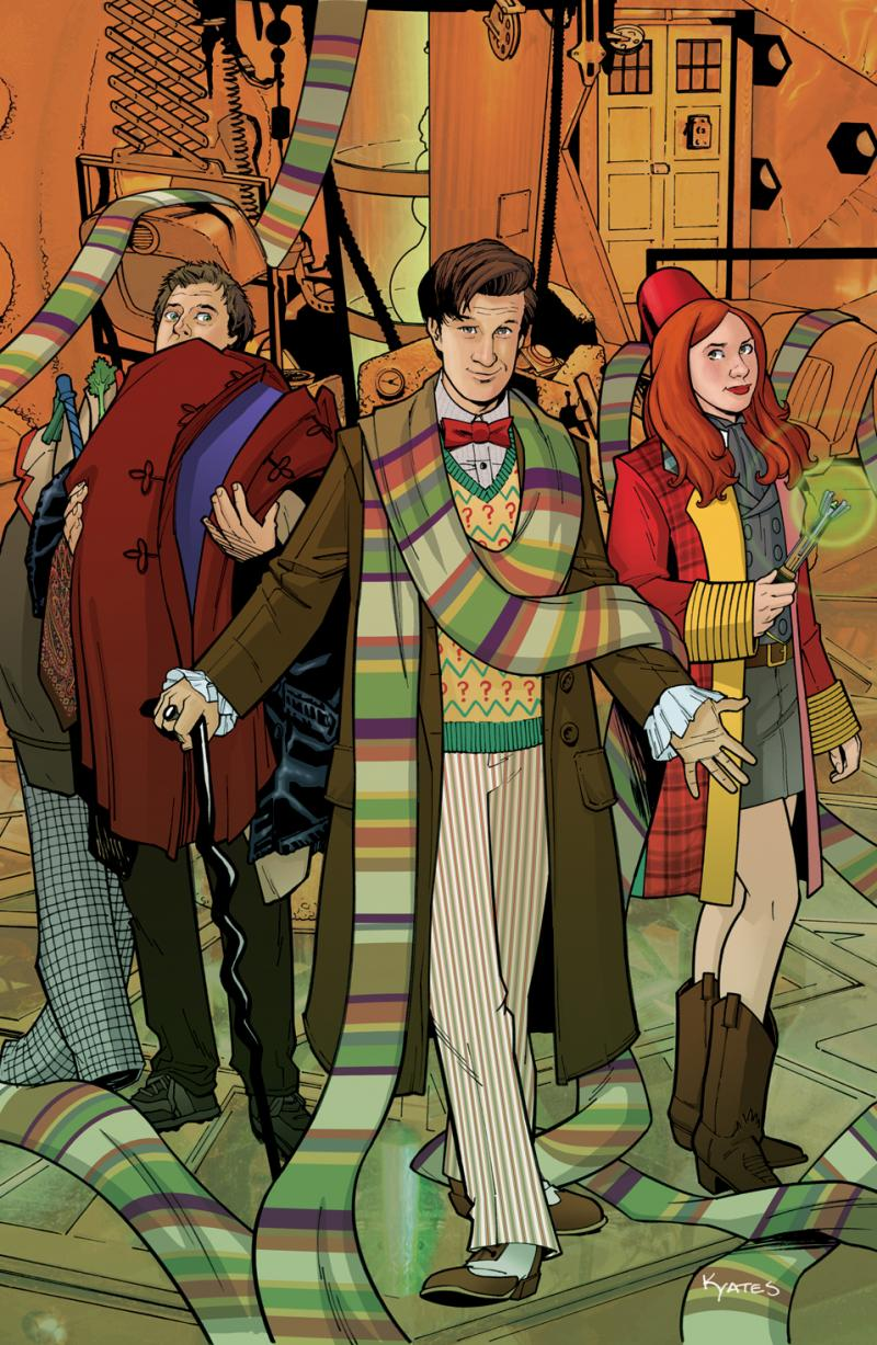 An illustration from Doctor Who the comic.