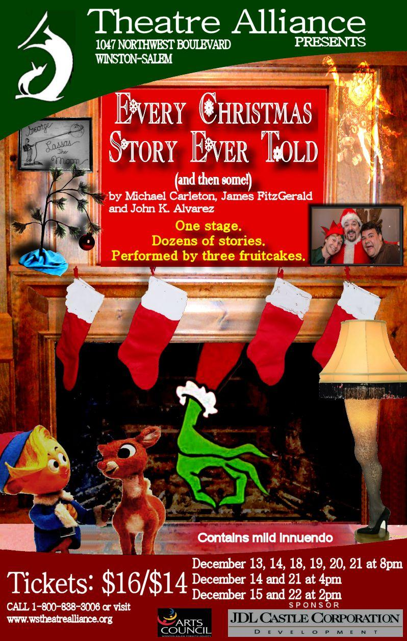 Winston-Salem Theatre Alliance presents Every Christmas Story Ever Told.
