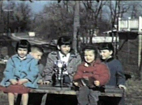 Roger Easton brought the Vanguard satellite home to work on; here, his children (Richard is in the red coat) are pictured with the satellite. The satellite remains in a stable orbit, so their fingerprints are likely orbiting Earth today!