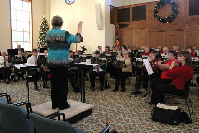 The Salem band performs.