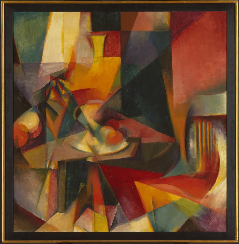 Stanton Macdonald-Wright (American, 1890-1973). Synchromy No. 3, 1917. Oil on canvas, 39 x 38 in. (99.0 x 96.5 cm). Brooklyn Museum, Bequest of Edith and Milton Lowenthal, 1992.11.24.