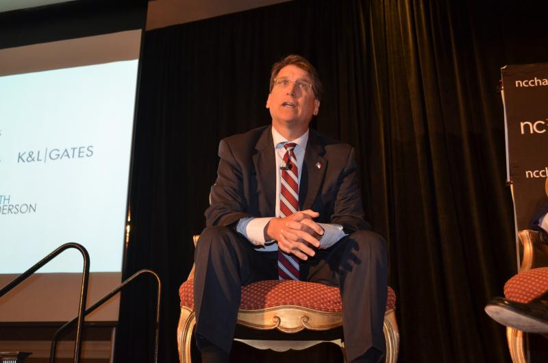 Governor Pat McCrory delivered opening remarks at the North Carolina Chamber's 72nd Annual Meeting, Wednesday, March 5.