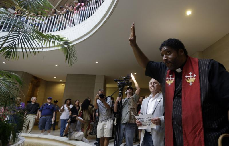 Reverend Dr. William Barber spearheaded N.C.'s Moral Monday Movement in response to a new law requiring voters to show a goverenment-issued photo ID.