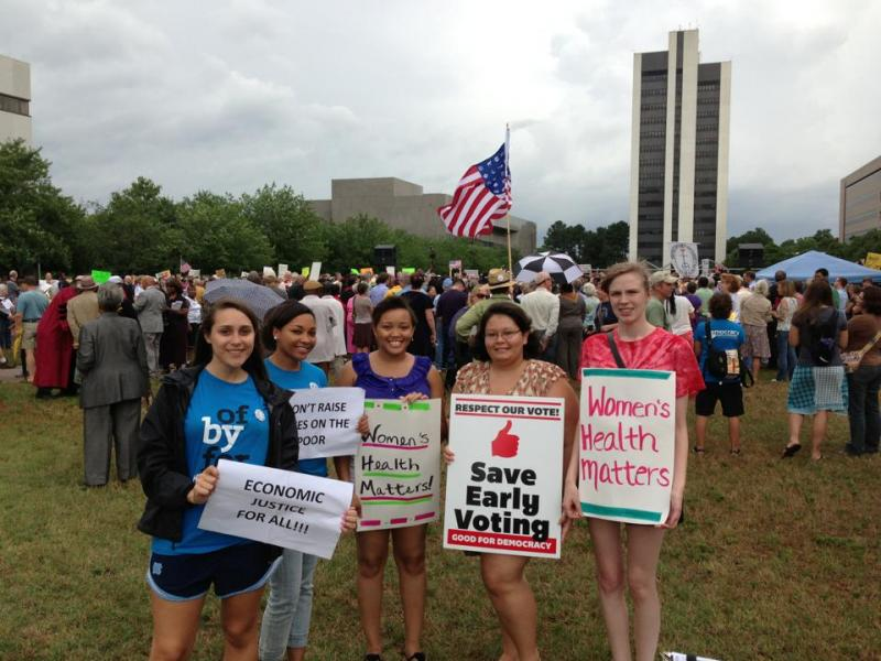 Young protestors find their voice during North Carolina's 2013 Moral Monday Rallies.