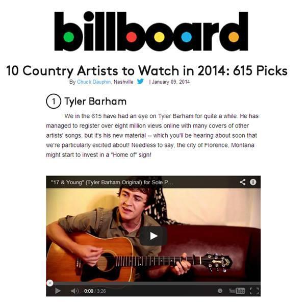 Singer/Songwriter Tyler Barham.