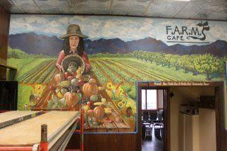 F.A.R.M. Cafe mural painted by several Boone area artists.
