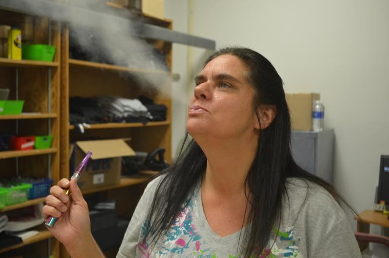 Leigh Anne Blackburn owns Southern Vapes on Peter's Creek Parkway in Winston-Salem. She says taxing the juice will hurt her business because it'll increase consumer cost to vape.