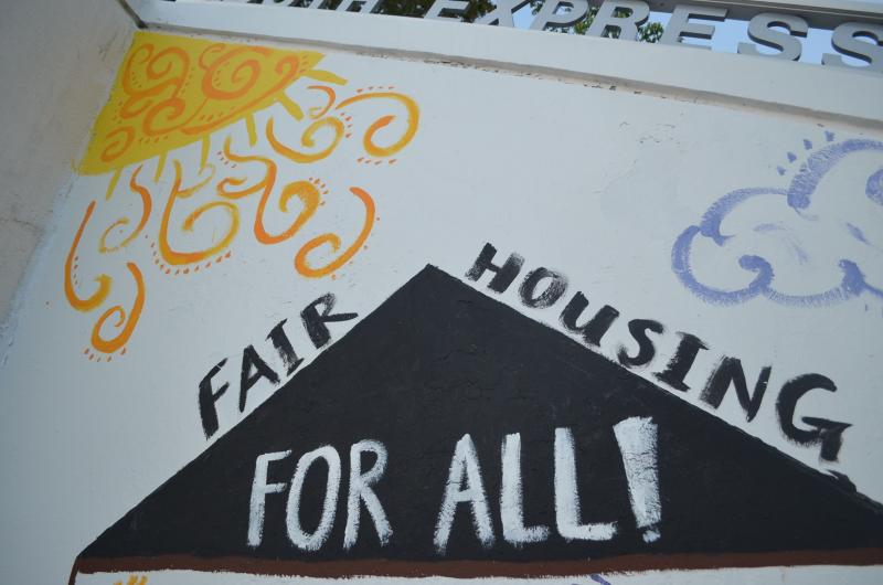Fair Housing For All is the theme for the 2014 Youth Expression Wall.