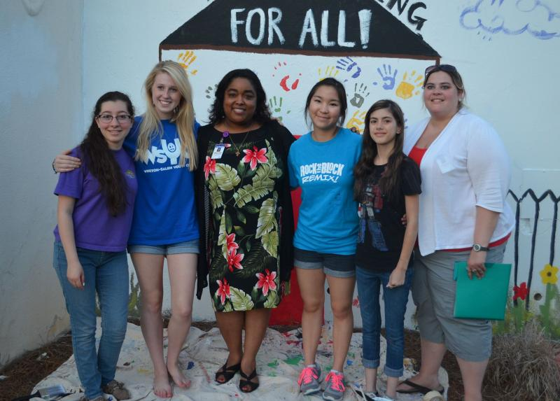 The 2014 officers of the WS Youth Advisory Council pose with adult advisors. From left to right: Dalia Namak , Annapate Glover, Wanda Allen-Abraha (advisor), Kristy Sakano, Asia Catral, Jamie Waldeck (advisor).