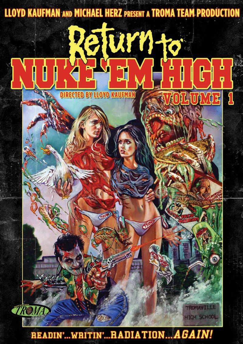 The poster for Return to Nuke 'Em High: Volume 1