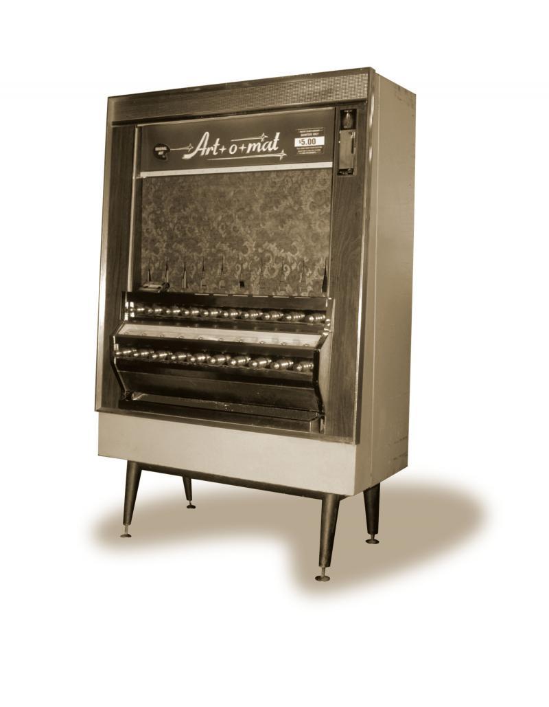 The first Art-o-mat machine.