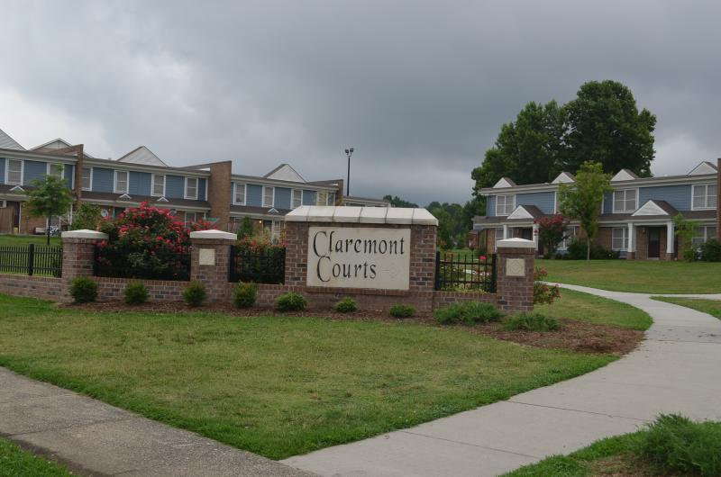 Claremont Courts is one of Greensboro's 19 public housing communities. It has 250 apartments and townhomes off Bywood Road.
