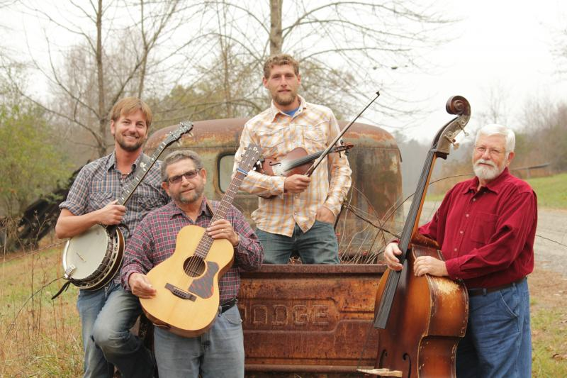 Back-Step is Michael Motley-banjo, Chester McMillian-guitar, Nick McMillian-fiddle, Buck Buckner-Bass.