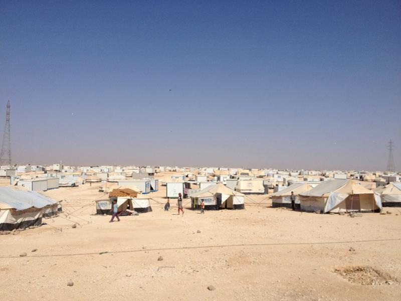 Zaatari is one of two refugee camps in Jordan. Combined they house about 95,000 refugees. More than half are children.