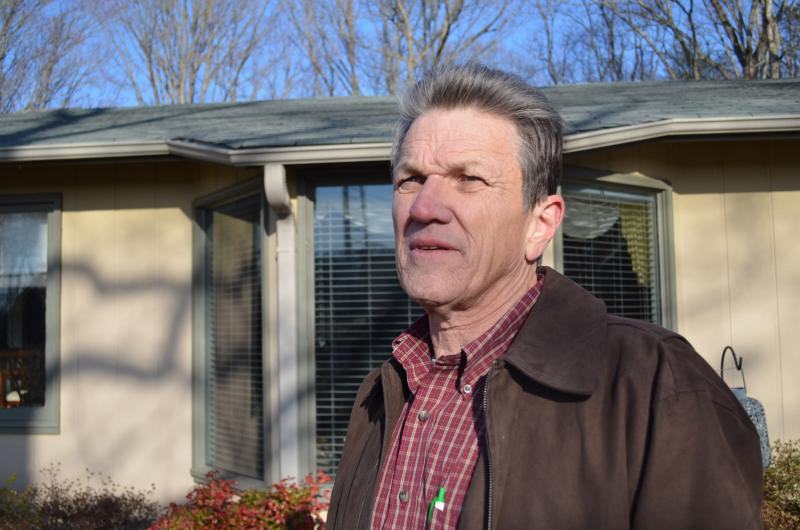 James Nelson lives on the western leg of the Northern Beltway. He says the North Carolina Department of Transportation is the only buyer for his property.