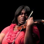 EMF student violinist Caitlin Edwards