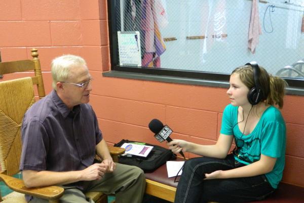 WFDD Radio Camper interviews Mark Daniel, founder of the Readasaurus Program