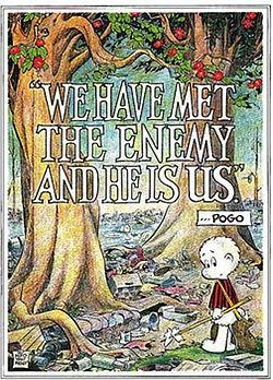 """Pogo"" Earth Day poster by cartoonist Walt Kelly"