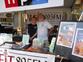 Barbara Bingnear, Membership Director with Jay Lamy, station volunteer.