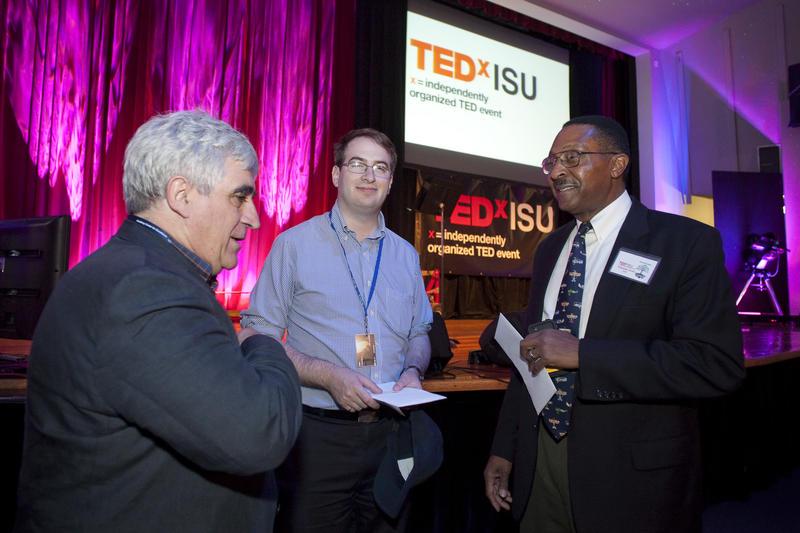 Guy Boy, Florida Tech university professor and site chair of the International Space University-Space Studies Program, Ian Fichtenbaum, ISU Alumni, and Captain Winston Scott, USN-Ret.